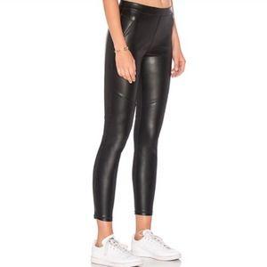 Free People Black Vegan Leather Leggings